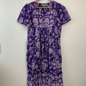Sara Morgan purple floral boho dress